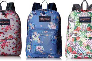 4 mochilas Jansport con diseños florales de primavera por menos de $35