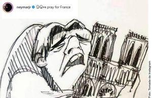 Figuras del fútbol mundial lamentan en redes la tragedia en Notre-Dame