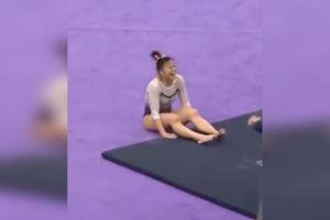 Gimnasta que se rompió las dos piernas pide que no compartan más su vídeo