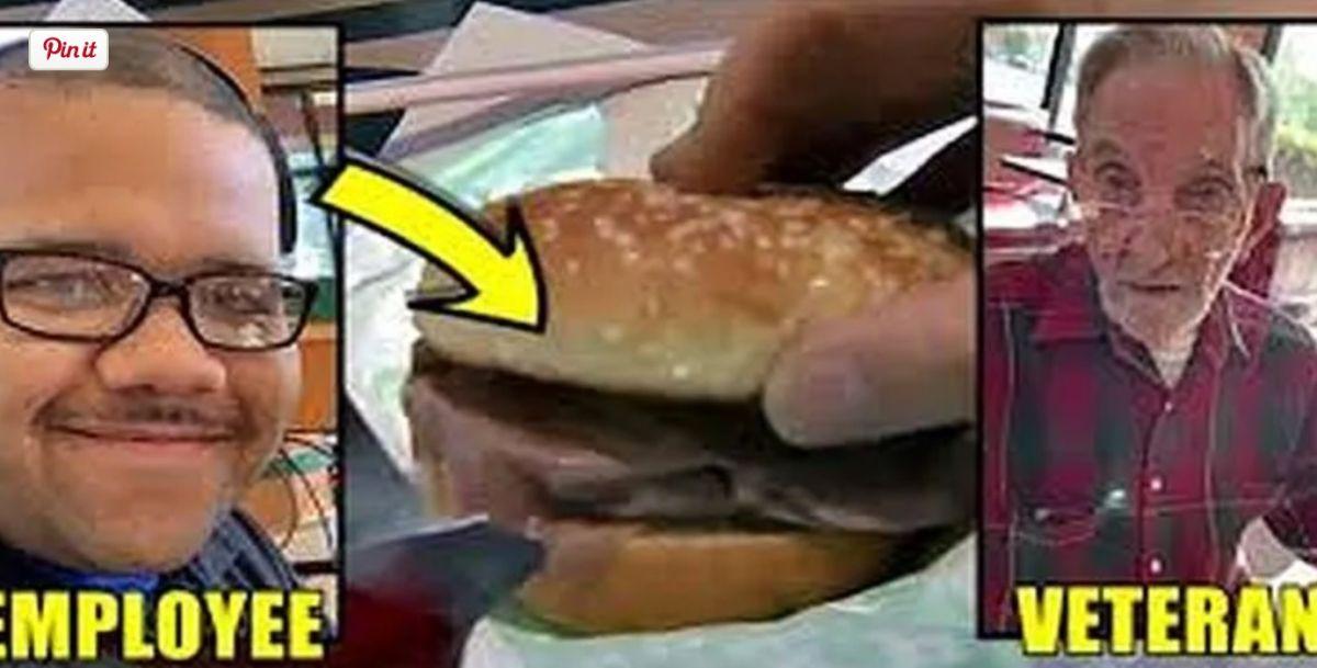 Un veterano de guerra de 90 años recibe una sorpresa en su sandwich de carne.