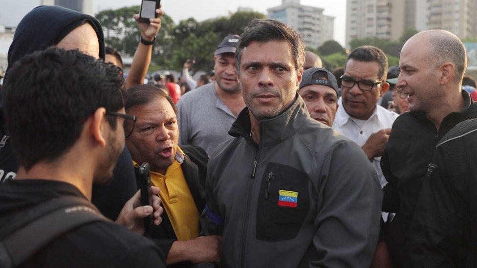 Leopoldo López luego de su liberación.