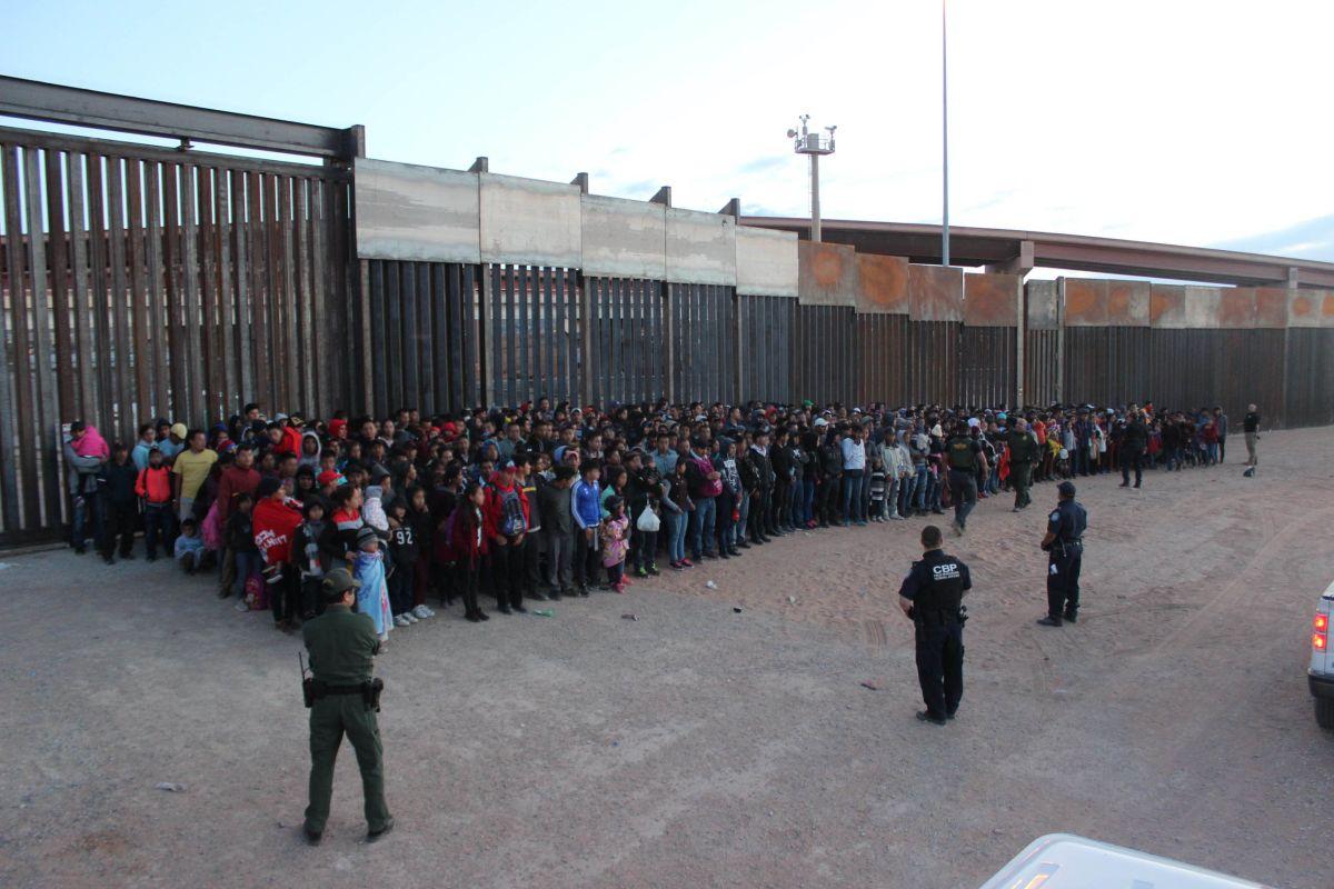 Patrulla Fronteriza captura el mayor grupo de inmigrantes en la frontera. Gobierno de EEUU