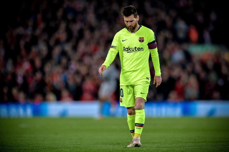 "Messi rompió en llanto en el vestuario de Anfield revela ""The Guardian"""