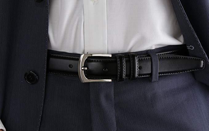 Cinturón De Vestir Para Hombre Con Hebilla De Piel De Vaca Diseño Clasico