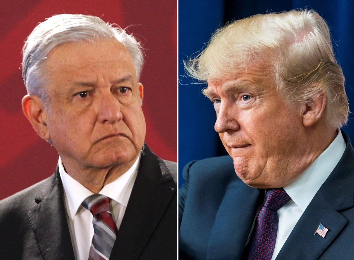 Los presidentes López Obrador y Trump.