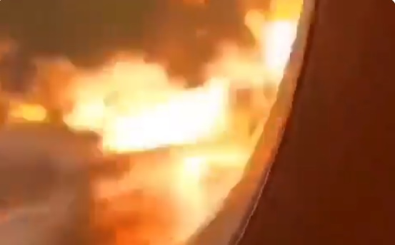 VIDEOS: Así se vio el fuego desde el interior del avión ruso que dejó 41 muertos