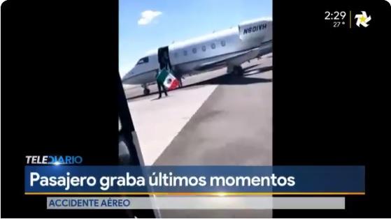 Pasajera grabó los últimos momentos del avión accidentado en México