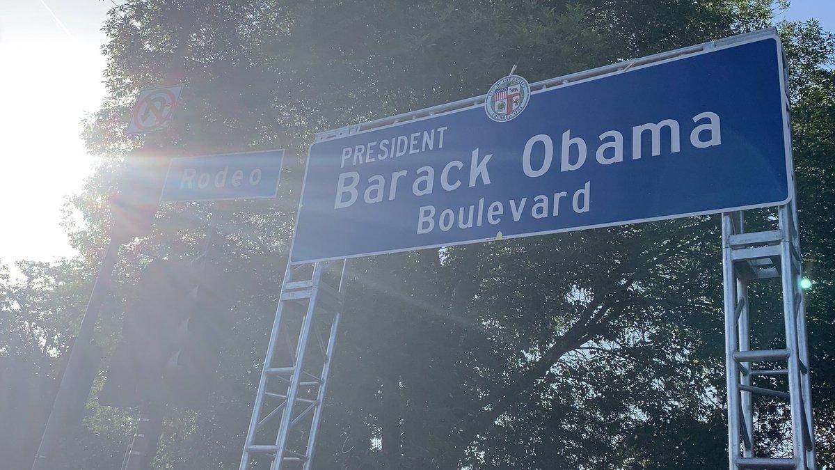 Los Ángeles ya tiene una calle nombrada en honor de Barack Obama