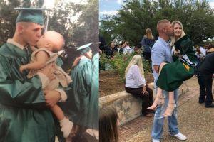 Fotos de un padre con su hija, con 18 años de diferencia, se hacen virales