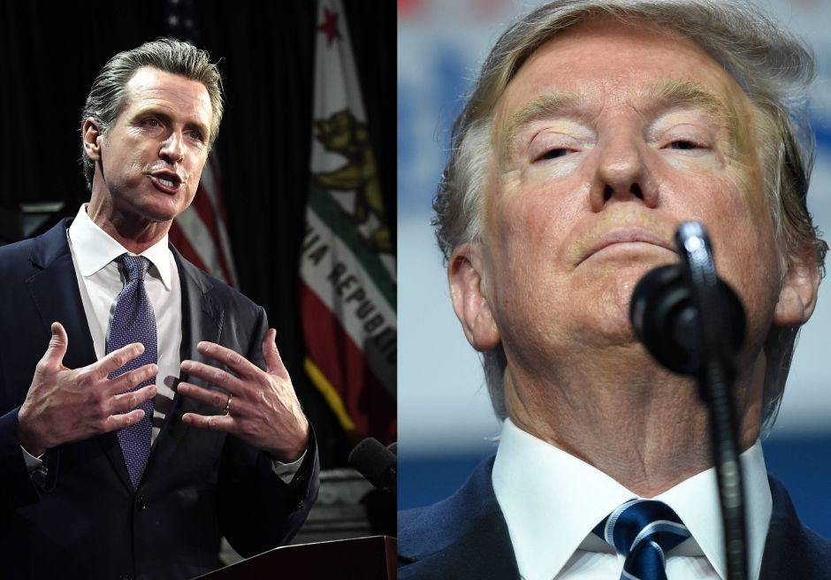 """Newsom arremete contra Trump tras anuncio de medida sobre carga pública que """"castiga"""" a inmigrantes"""