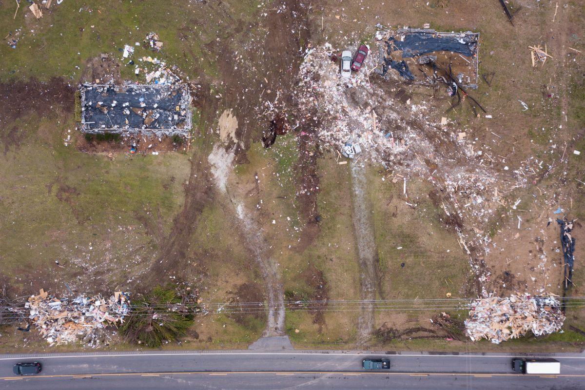 Numerosos tornados arrasaron en Alabama y Georgia en marzo.