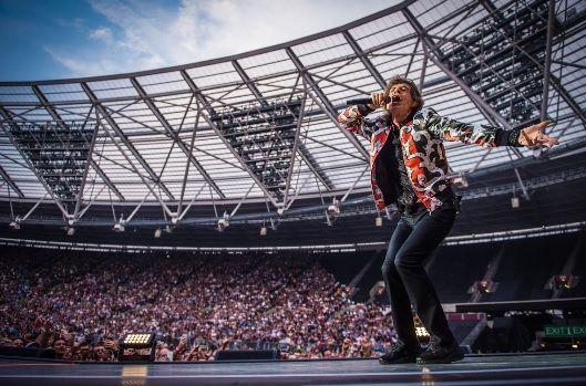 Una de las leyendas del rock Mick Jagger.