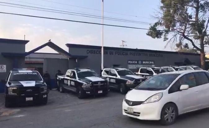 Estación de policía en Coahuila.