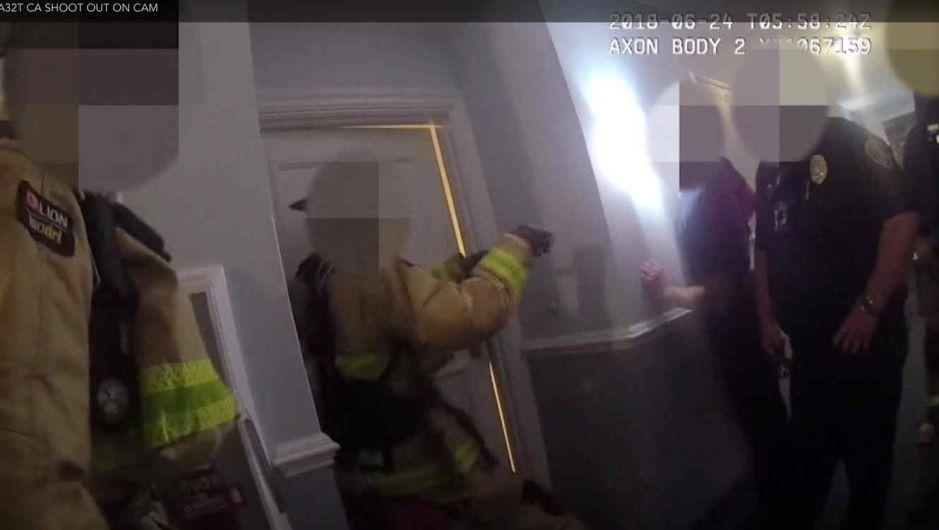 Graban en vídeo la espectacular balacera mortal de la policía y un sospechoso en California