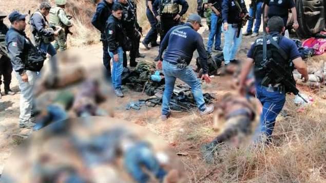 Sangriento enfrentamiento entre CJNG y los viagras deja 10 muertos en Michoacán./Twitter