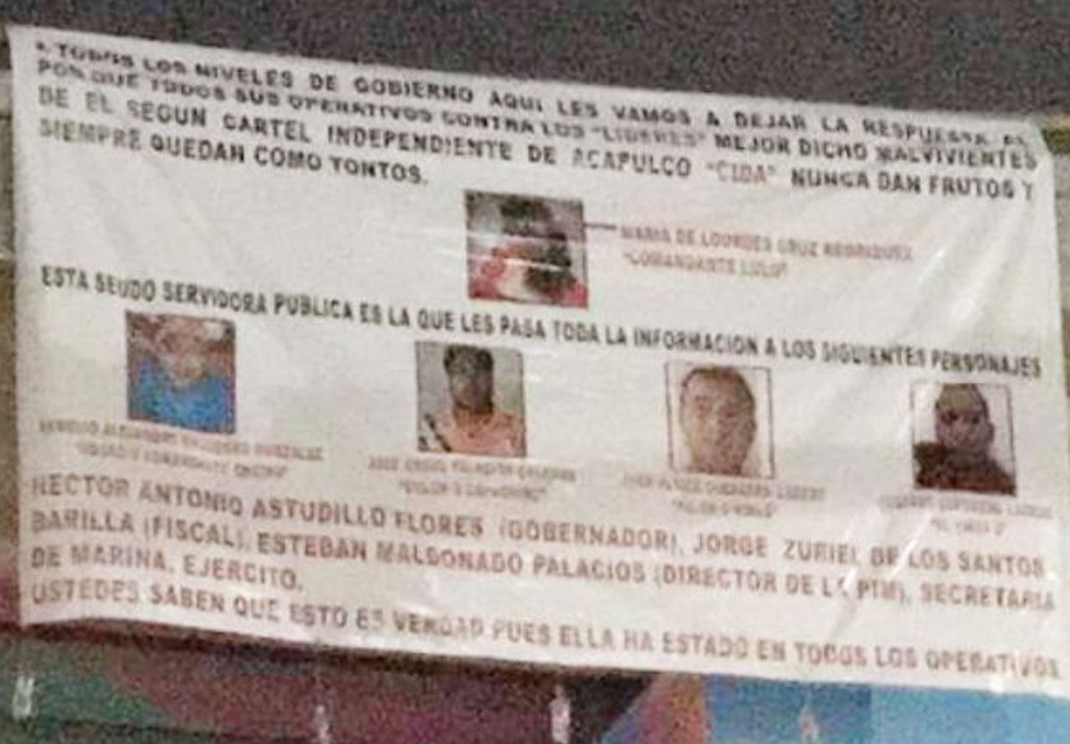 Tapizan con narcomantas puerto turístico, tenían rotundo mensaje vs el CIDA