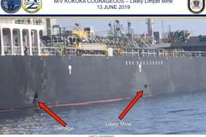 Video de Estados Unidos muestra que Irán retiró una mina sin explotar de un petrolero