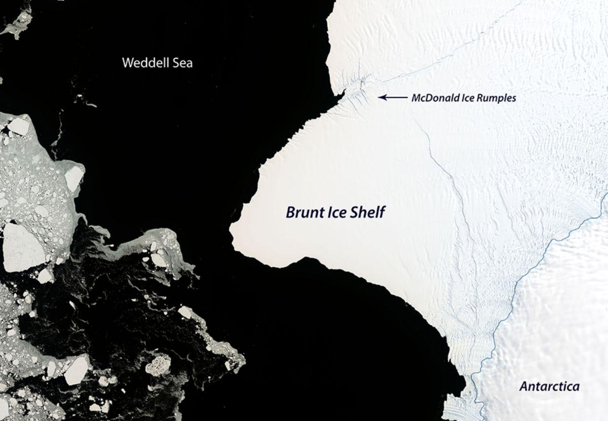 Un iceberg que mide el doble de NY está a punto de desprenderse en la Antártica