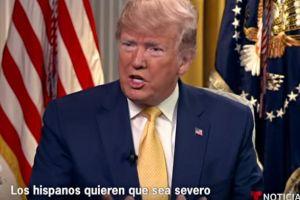 Trump asegura que latinos apoyan sus planes de deportar a millones de indocumentados