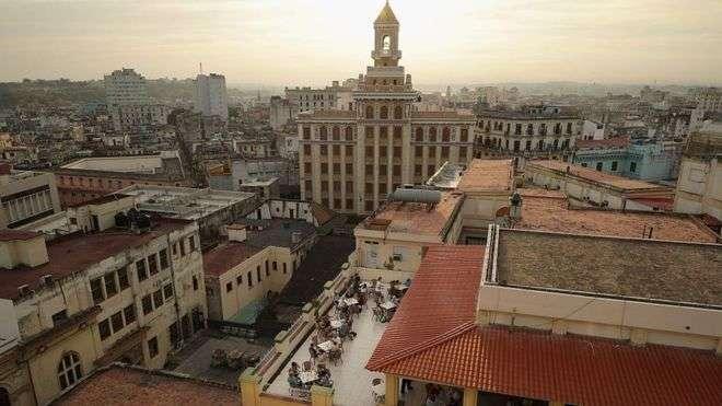 Vista aérea de parte de La Habana.