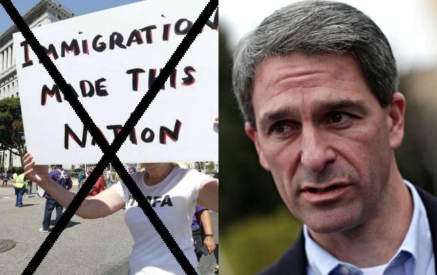 Durante su paso por el Senado de Virginia Cuccinelli promovió varios proyectos antiinmigrantes