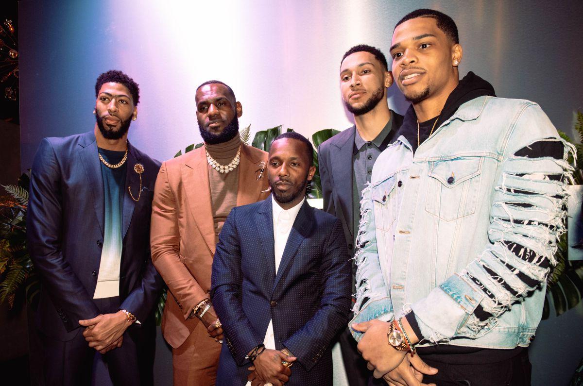 Anthony Davis, LeBron James, Rich Paul, Ben Simmons, y Miles Bridges