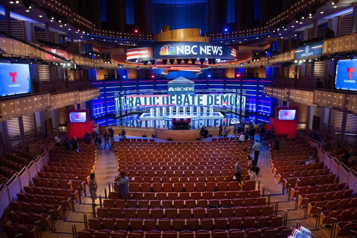 Todo listo para el primer debate primario demócrata de la campaña presidencial de 2020.