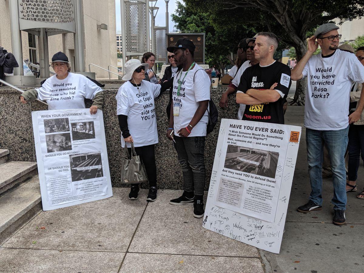 Por protestar en Los Ángeles contra la separación familiar, los acusan de conspiración