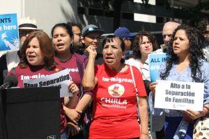 Manifestantes se congregaron en Los Ángeles para repudiar a Trump