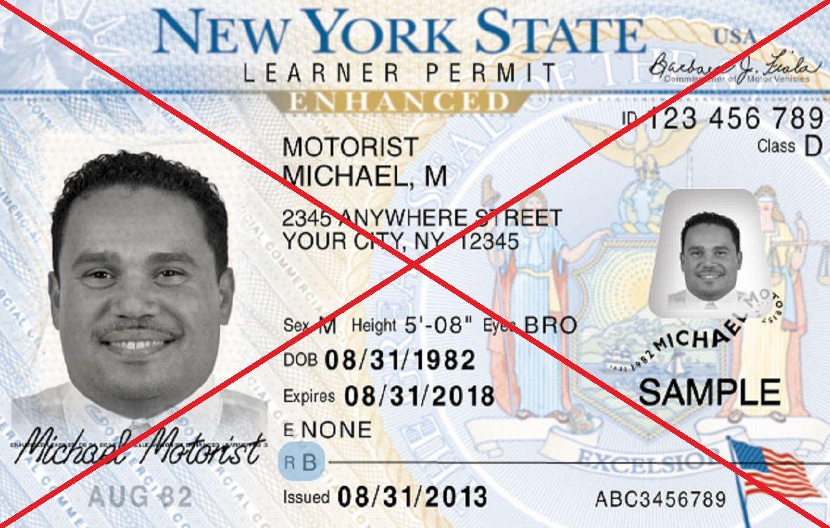 Licencia para conducir de Nueva York.