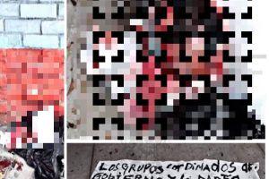 Narcos dejan escabroso mensaje en ciudad fronteriza; a víctima la descabezaron