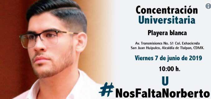 En redes sociales difunden el caso de Norberto con el hashtag #NosFaltaNorberto.