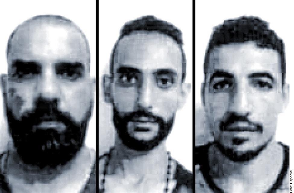 Revelaron los nombres de los tres presuntos terroristas.