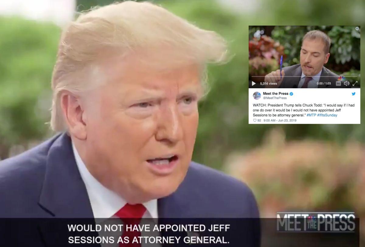 """""""Nombrar a Jeff Sessions fue el peor error de mi presidencia"""""""