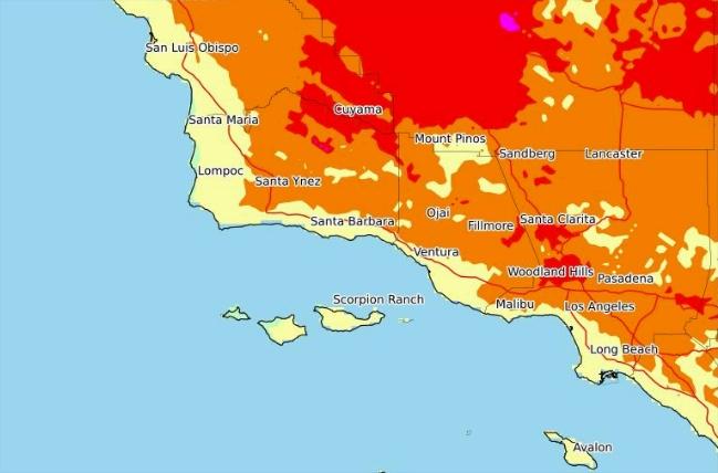 Esta tarden se registrarán las temperaturas más altas.