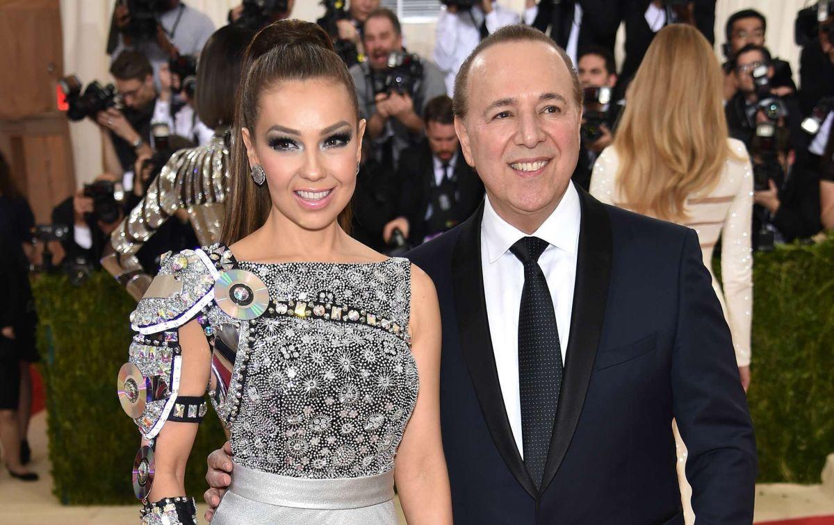 Thalía y Tommy Mottola.