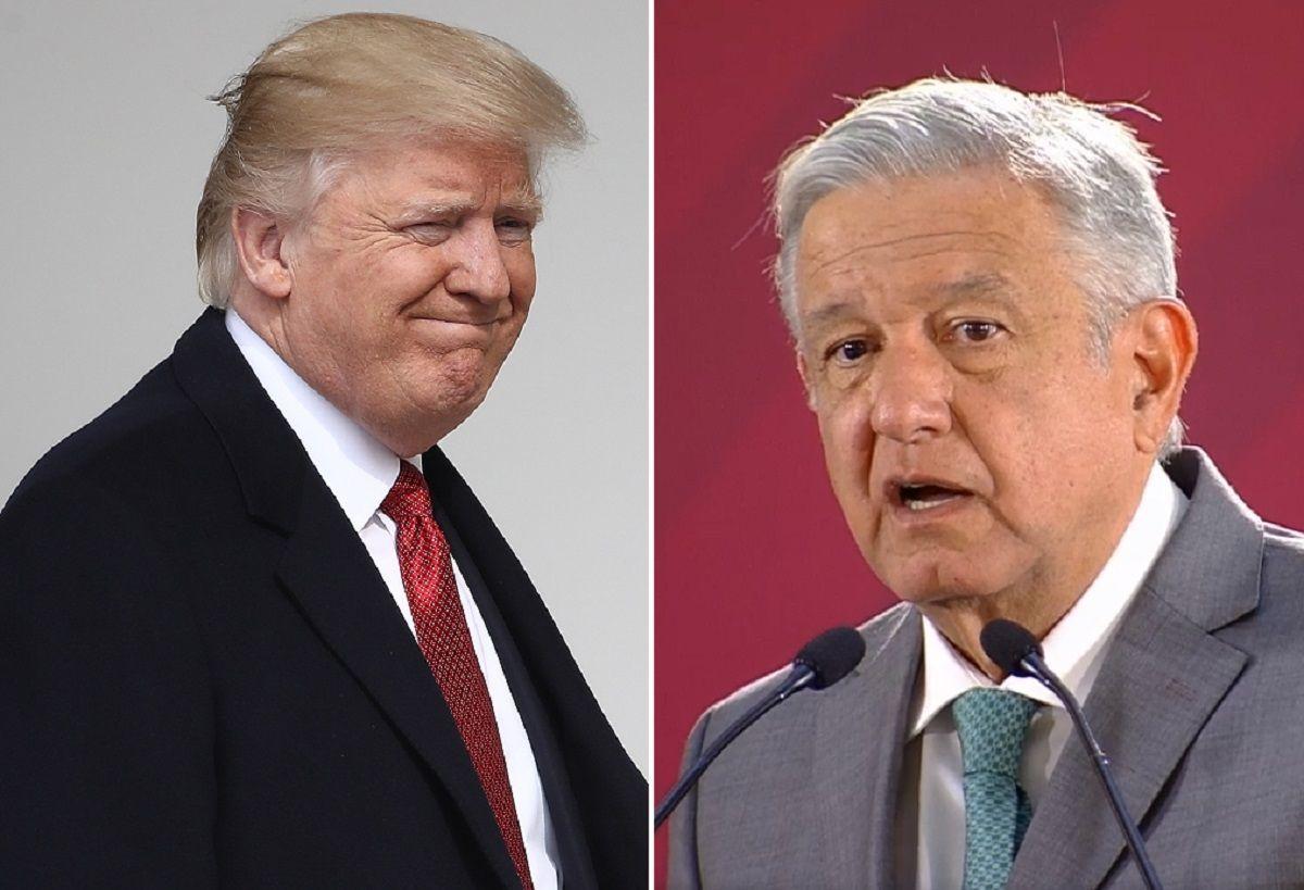 Los presidentes Trump y López Obrador.