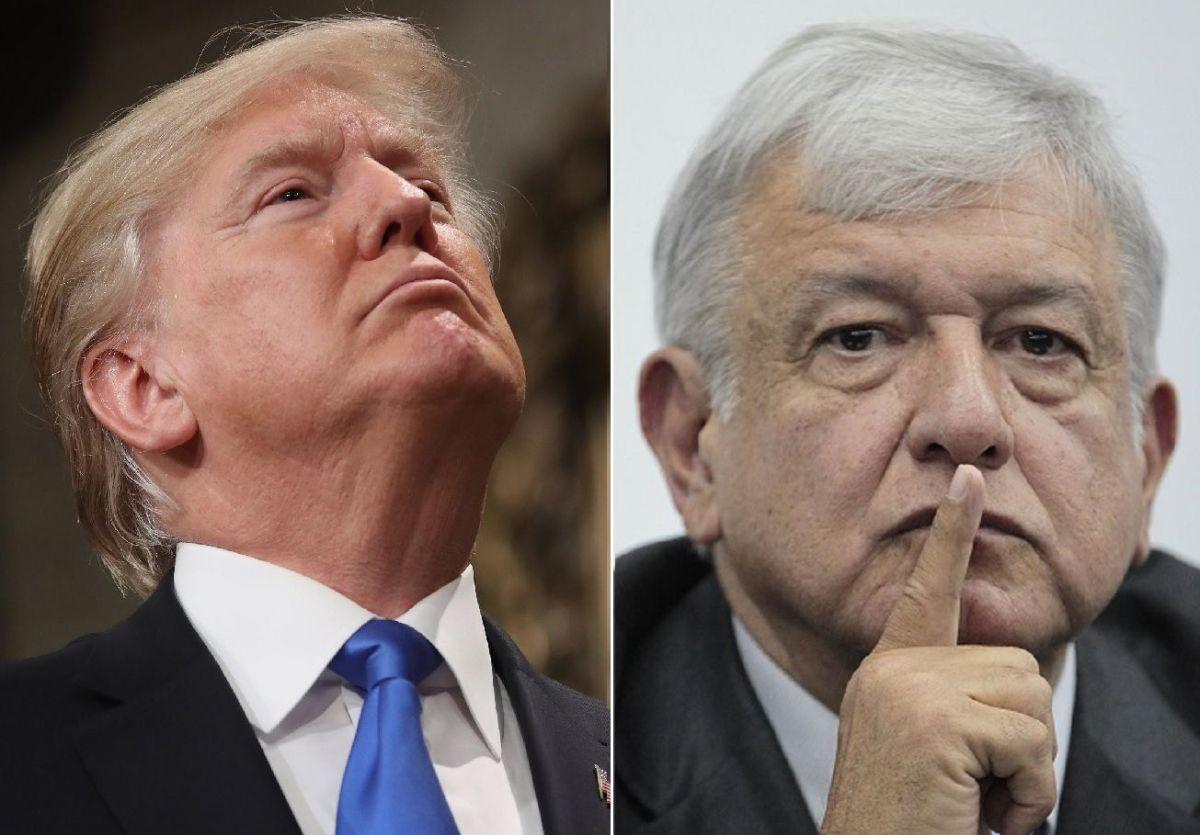 El presidente Trump presiona a su homólogo mexicano López Obrador sobre la inmigración de indocumentados.