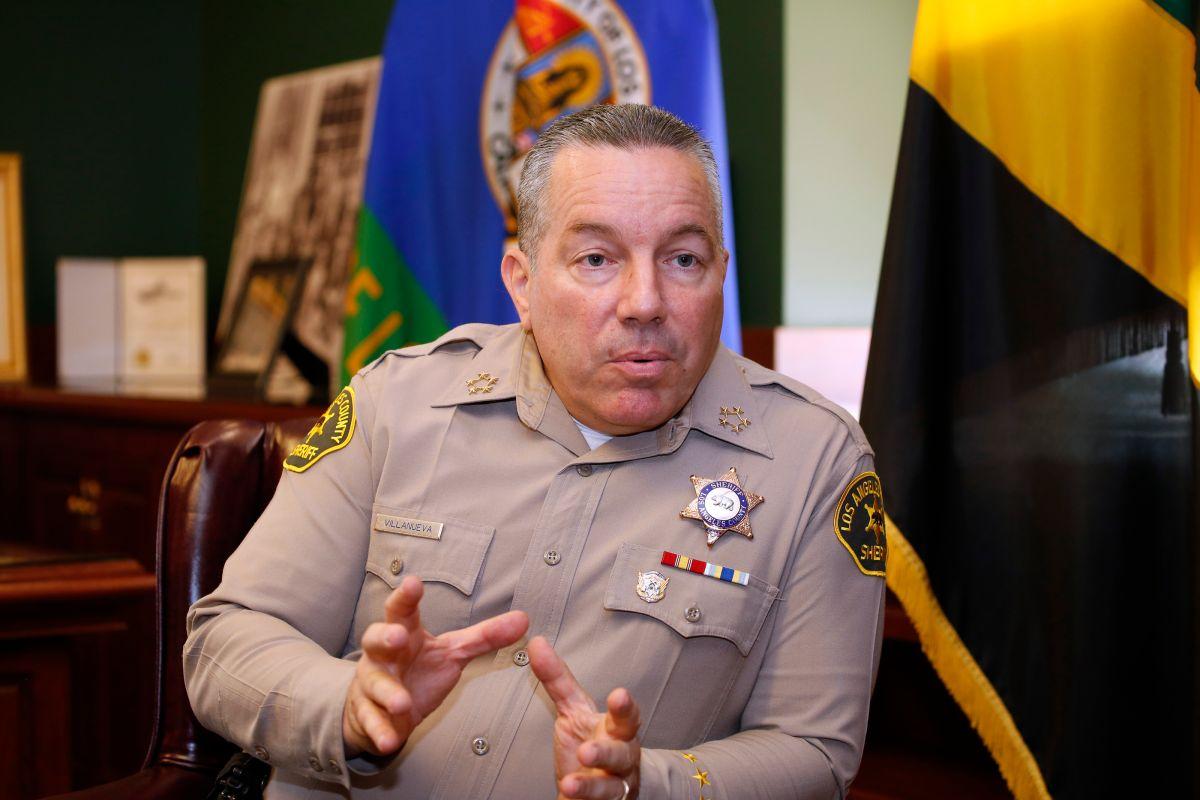 Alex Villanueva, jefe del Departamento del Sheriff de Los Ángeles. (Aurelia Ventura/La Opinión)