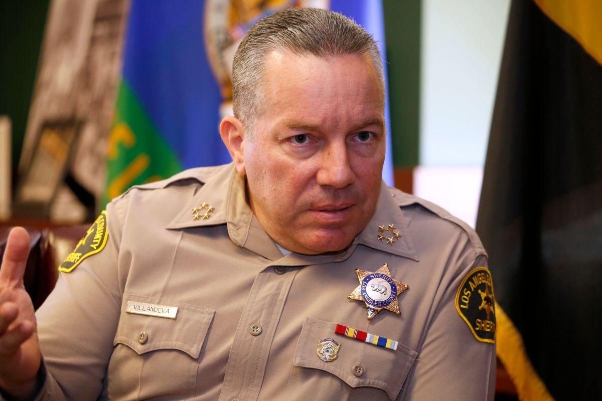 Alex Villanueva, jefe del sheriff de LA. (Aurelia Ventura/La Opinión)