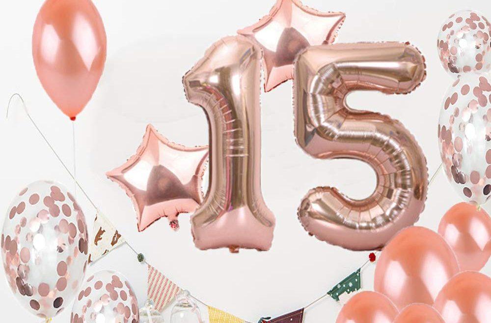 3 sets de decoración para una fiesta de quinceaños sencilla
