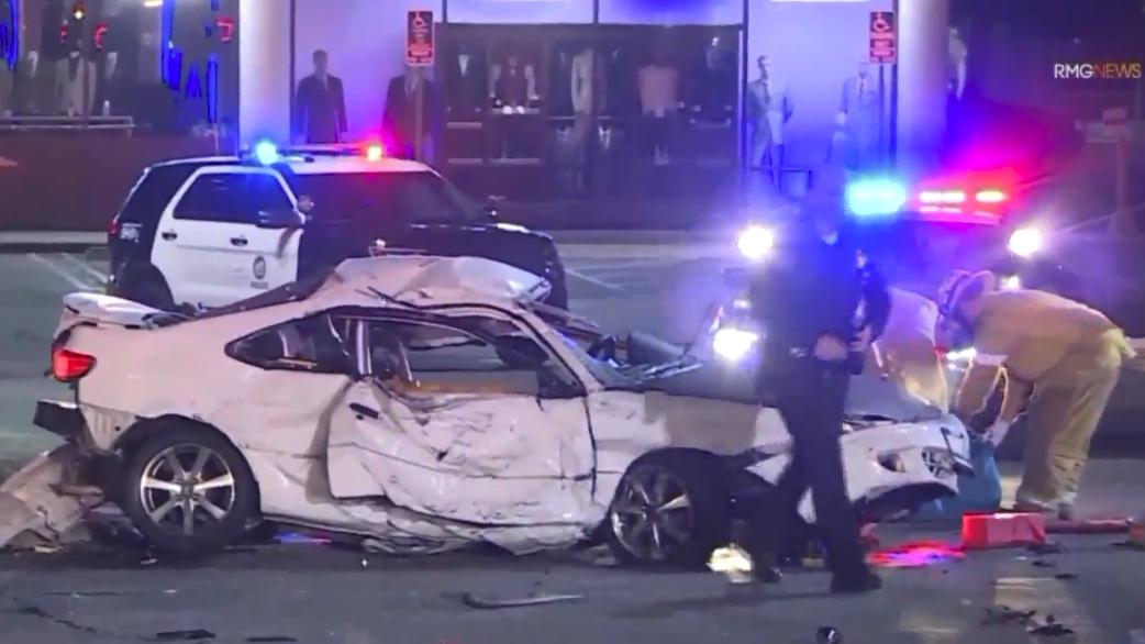 Violento accidente dejó dos muertos tras persecución en Northridge