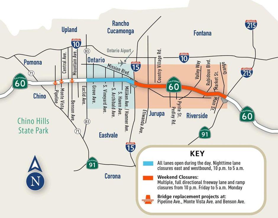 Este viernes inician los cierres de la autopista 60 que afectará el tráfico por 15 fines de semana
