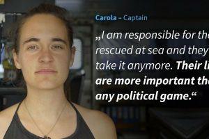 A Carola Rackete la acusan de salvar a inmigrantes en el mar; el mundo pide su liberación