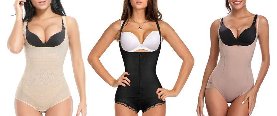 5 fajas estilo bodysuit para moldear tu figura y resaltar tu escote si tienes pocos senos
