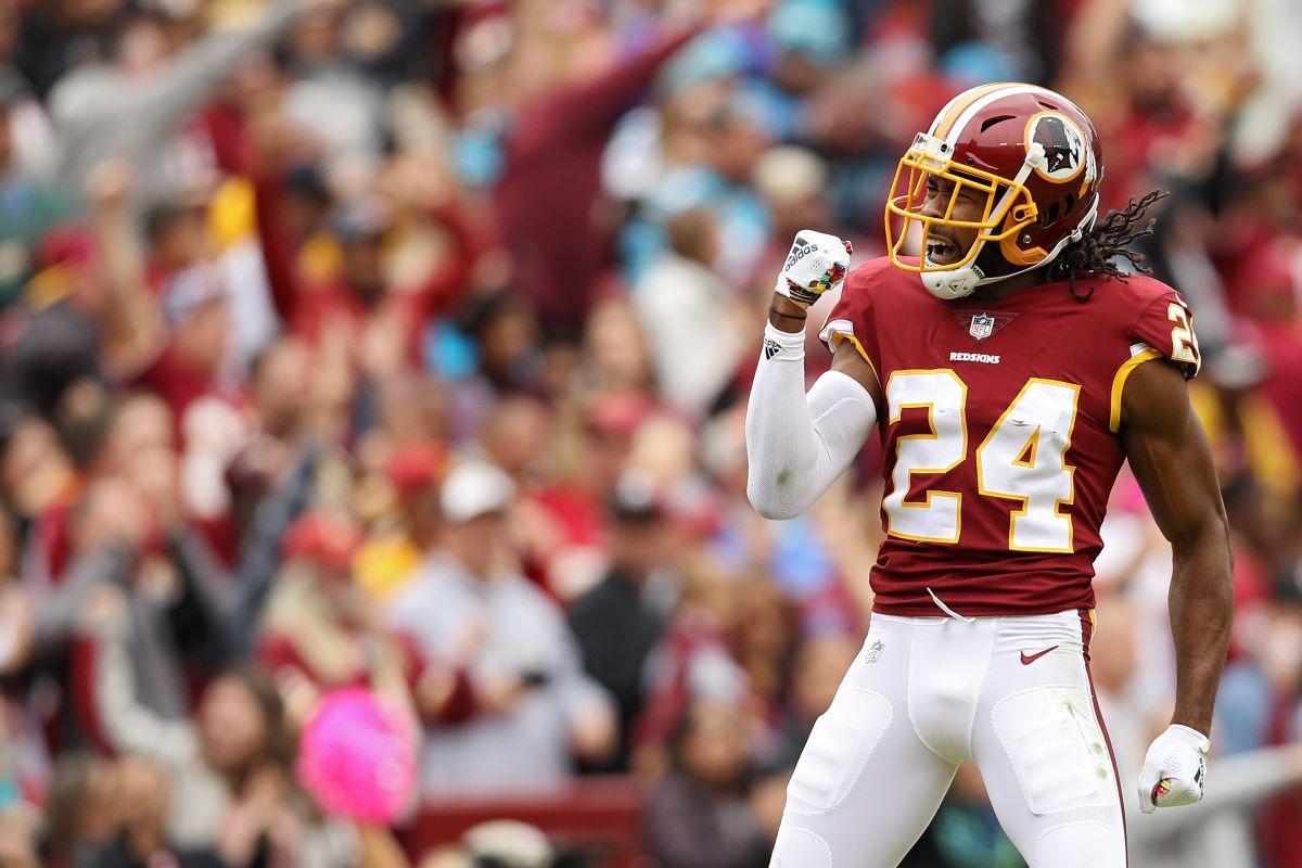 """Un """"micro infarto"""" es lo que probablemente le provocó Josh Norman a los Redskins desde la """"Pamplonada""""."""