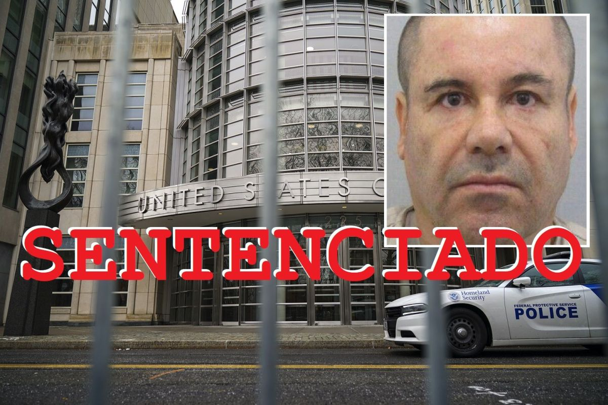 """Sentencian a """"El Chapo"""" a cadena perpetua más 30 años de prisión"""