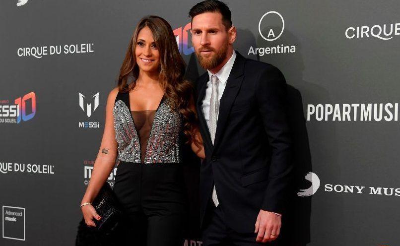 Messi y Antonela.