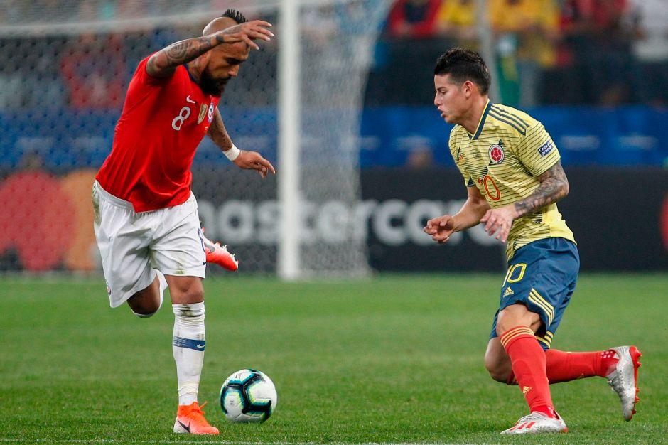 Vidal y James Rodríguez se tiran cariño en redes