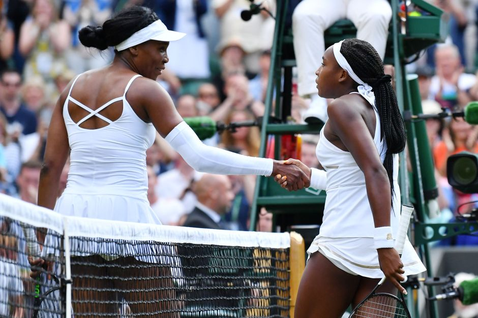 Venus Williams reconoce su derrota.